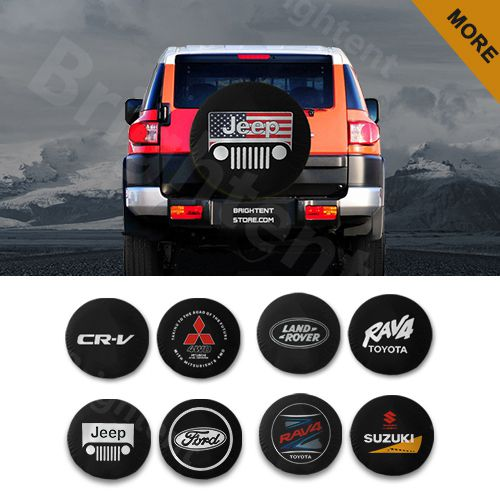SUV and Various Vehicles Custom Bedy Car Tire Cover Rainproof Protective Cover Welcome to Our Camper Water Proof Universal Spare Wheel Tire Cover Fit for Trailer RV