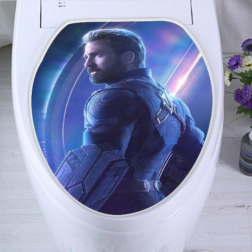 Magnificent Captain America Avengers Toilet Seat Cover Evergreenethics Interior Chair Design Evergreenethicsorg